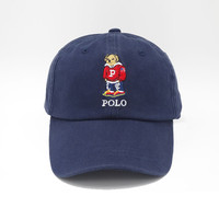 Causal Character Bear And Letters Baseball Hats Women And Men Embroidery Cotton Punk Dad Hats Snapback Cap Style 2016