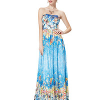 Aliexpress.com : Buy Prom Dresses Ever Pretty HE08378BL Sexy Strapless Padded Floral Print Sexy 2015 New Arrival vestidos de festa vestido longo from Reliable print maxi dress suppliers on Ever Pretty's store | Alibaba Group