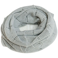 Grey Cut-Out Scarf