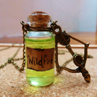 Game of Thrones Wildfire and bow and arrow necklace