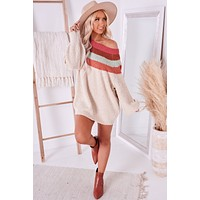 True Devotion Color Blocked Sweater (Cream Multi)