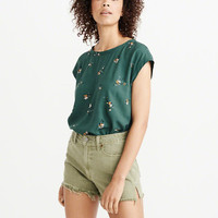 Womens Woven Tee | Womens New Arrivals | Abercrombie.com
