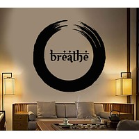 Vinyl Wall Decal Enso Buddhism Breathe Yoga Meditation Beauty Health Stickers Unique Gift (1295ig)