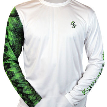 Largemouth Bass Long Sleeve Scale Sun-Shield – Salty Scales Apparel