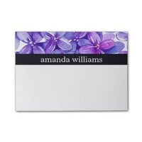 Purple Lilac Floral Post-it® Notes
