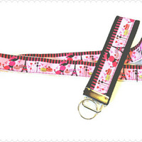 Poodles and Paris badge holder, lanyard or keychain