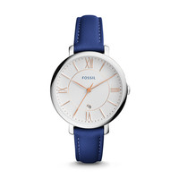 Jacqueline Date Indigo-Dyed Leather Watch