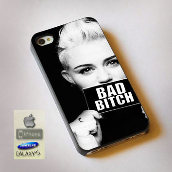 Miley Cyrus Bad Bitch - Print on Hard Plastic, available for iPhone and Samsung Galaxy. Choose for your device