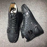 Christian Louboutin CL Louis Spikes Style #1820 Sneakers Fashion Shoes Online