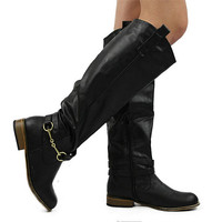 """Parksville"" Knee High Riding Boots - Black from H.C.B. - Products tagged with boots, shoeswomen, accessories"