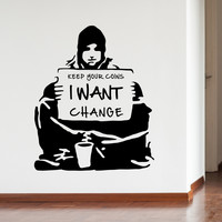 Banksy Change Wall Decals