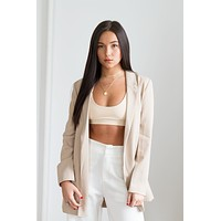 Poppy Blazer - Tan
