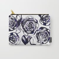 Inky Roses Carry-All Pouch by Holly Sharpe