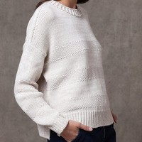 Striped knit jersey - KNITWEAR - WOMAN | Stradivarius Republic of Ireland