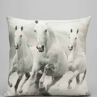 Wild Horses Pillow- Cream One