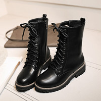 On Sale Hot Deal Plus Size Winter Round-toe Zippers Dr. Martens Boots [6366199236]