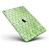 """Green Sorted Large Watercolor Polka Dots Full Body Skin for the iPad Pro (12.9"""" or 9.7"""" available)"""