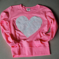 "The ""Dazzle Barbie"" Sweatshirt - Sequin Heart Sweatshirt"