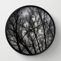 Haunted, black, grey, trees, nature, spooky - 10 Inch Round Wall Clock - kitchen, new home or apartment, dorm, gift-Made To Order-H#07