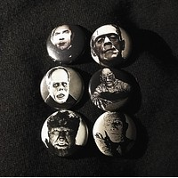 "UNIVERSAL MONSTERS 1"" buttons"