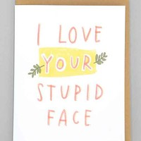 Emily McDowell Stupid Face Card- Assorted One