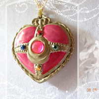 PGSM Necklace Size Heart Locket Compact Brooch Bishojo Senshi SAILOR MOON