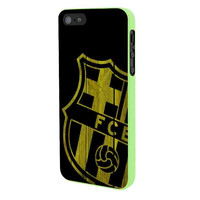 Barcelona FC Wood iPhone 5 Case Framed Green