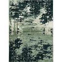 "Silver Rug - 3'3"" x 4'11"" Polyester Silver Charcoal Area Rug"