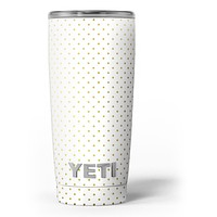 The Golden Micro Dot Pattern - Skin Decal Vinyl Wrap Kit compatible with the Yeti Rambler Cooler Tumbler Cups