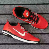 NIKE Men Shoes Running Sport Casual Shoes Sneakers red white hook