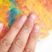 Sterling Silver Music Note Knuckle Ring, Gold Wire Music Knuckle Ring, Dainty Music Note Ring, Music Knuckle Ring, Best Friend Ring