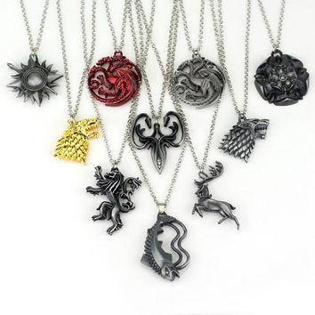 Game Of Thrones Family Crest Pendants