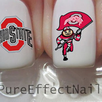 Ohio State Nail Decals