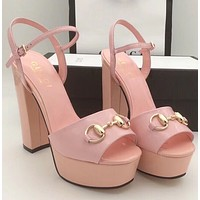 shosouvenir :GUCCI:Fashion princess high heels High-heeled shoes