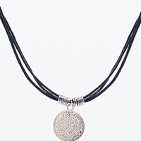 Filigree Choker Necklace in Black and Silver - Urban Outfitters