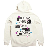 Dot Collage Hoodie Cement