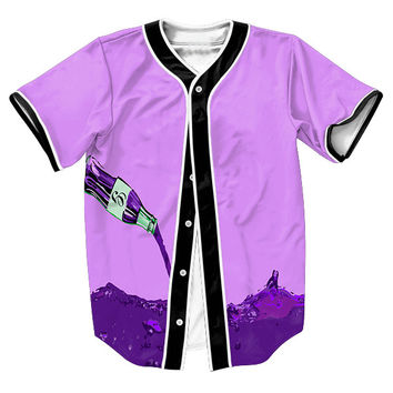 Pouring Lean Unisex 3d Baseball Jersey