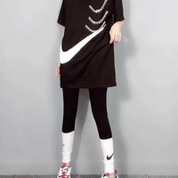 """NIKE"" Fashion Casual Chain Hook Short Sleeve Set Two-Piece Sportswear"