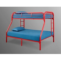 Palmer Red Twin Over Full Metal Bunk Bed