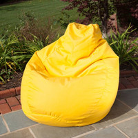 Outdoor/Indoor Weather Resistant Sunbrella Bean Bag (Sunflower Yellow) (30H x 34W x 36D)
