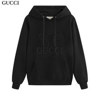 GUCCI fashionable embroidery long-sleeve hoodies are hot sellers of casual hoodies solid colors Black