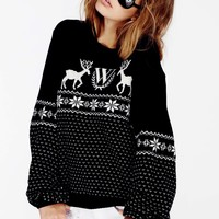 PASTEL SNOW BABE HOLIDAY SWEATER