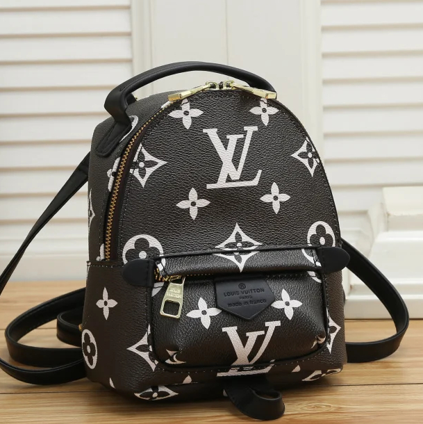 Image of LV Louis Vuitton Fashion Backpack Leather Bag large Capacity Backpack