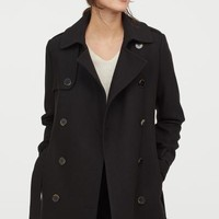 Pea Coat - Black - Ladies | H&M US