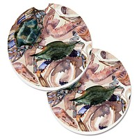 Crab Set of 2 Cup Holder Car Coasters 8618CARC
