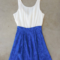 Bow Back Dress in Royal