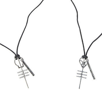 Twenty One Pilots Symbols Cord Necklace 2 Pack