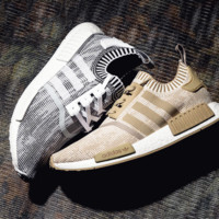 """Women """"Adidas"""" NMD Boots Casual Sports Shoes Khaki white soles"""