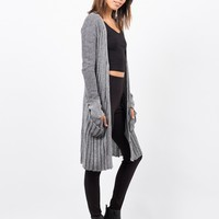 RIbbed Knit Button Down Cardigan