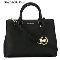Mk Women Shopping Bag Leather Tote Satchel Shoulder Bag Handbag Crossbody 2